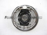 Front Brake Backing Plate w/shoes (Left Side) Fits: 125cc - 250cc ATV w/4 bolt hub