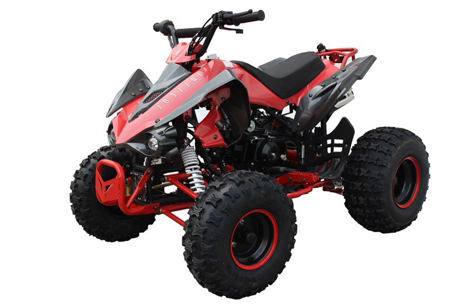 Jasscol Falcon 125cc Kids ATV Quad Four wheeler Chinese California Red Sticker Approved